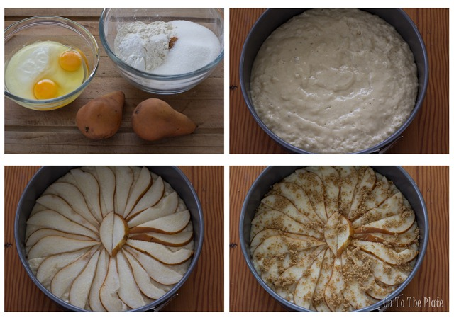 Preparing a Pear Coffee Cake