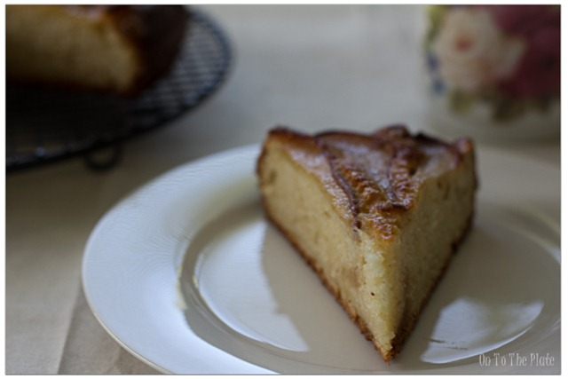 Slice of Pear Coffee Cake